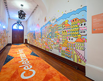 Mural Painting at 1881 HERITAGE