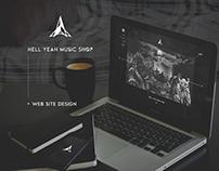 Dark web design - Heavy metal shop home page