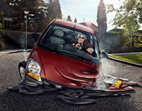 Melting cars