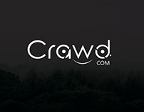 Crawd logo and postcard design