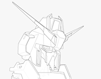 Gundam Bust Illustration