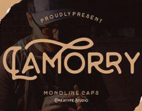 LAMORRY MONOLINE CAPS - FREE FONT