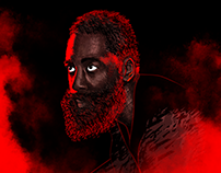 James Harden Illustration and Poster