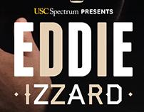 Eddie Izzard poster/flyer
