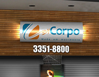 Logo e Projeto de Fachada Loja By Corpo