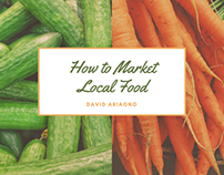 How to Market Local Foods