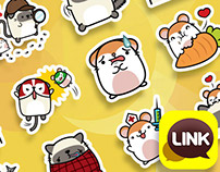Cheez&Ham - Kawaii Stickers for LINK Messenger