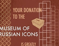 Signage system for Russian Icon museum
