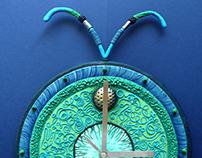 Green Insecta - wall clock