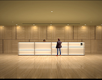 corporate office space design and lighting study