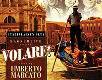 Volare! Italialainen ilta -event poster & visuals