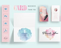 Flamingo Pack Bussiness Card Thank you Card Template