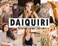 Free Daiquiri Mobile & Desktop Lightroom Preset