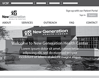 UCSF New Generation Health Center Web Design Project