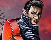 Johnny Cash - Comic Art