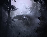 Humpack in the forest