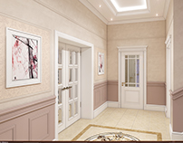 Villa Project in Azadliq Avenue.Hallway