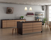 Kitchen - Cinema 4d + Vray