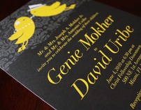 Genie and David Wedding Invitations