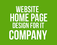 Home Page design for IT company website.