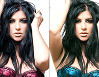 Retouched Image: DVD Cover Model