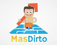 MasDirto Logo and App Mockup