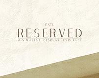 FXTL - Reserved Typeface