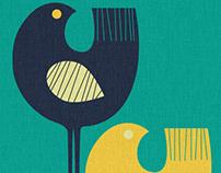 Wading Birds art print