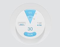 Modern Clock UI