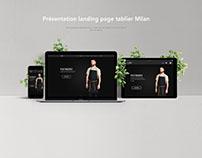 Tablier Milan - Landing Page