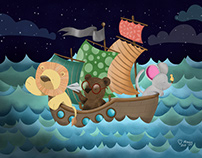 3 Animal in a Boat