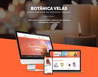 Criação de website Botânica Velas