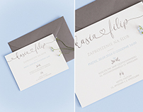 baby blue // letterpress wedding invitation
