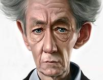 Caricature : Ian McKellen