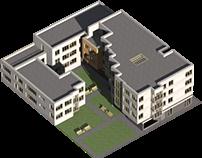 projekt zabudowy mieszkaniowej wielorodzinnej