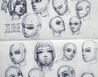 1-21 from 1001 Face Study Challenge