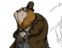character sketch of Mr. banker BEAVER