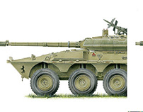 Armored Vehicles Illustrations