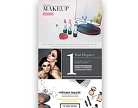 Makeup Email newsletter UI layout design