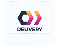 Two Triangle Arrow Delivery Logo