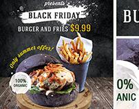 Burger Day PSD Flyer Template