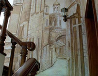 Relief mural on the Staircase