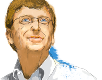 Illustrating Bill Gates