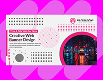Multicolor Creative Web Banner Design For Business