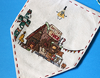 Mystery Shack - Embroidered Pennant