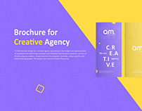 Tri-Fold Brochure for Creative Agency Design