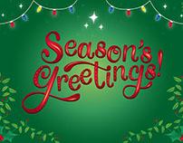 Season's Greetings Lettering