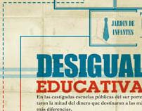 Infografía, Desigualdad Educativa