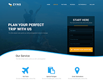 ZYNS TRAVELS VERSION TOW  HTML LANDING PAGE