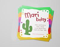 Convite de Aniversário - Tema México